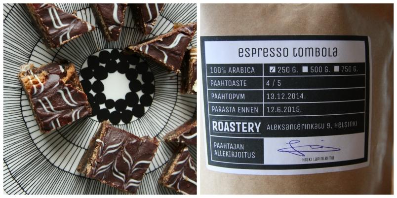 espresso brownie kollaasi