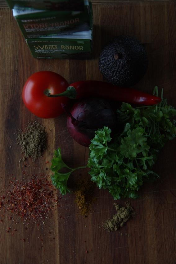vegies in the january light