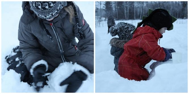 snow castle collage