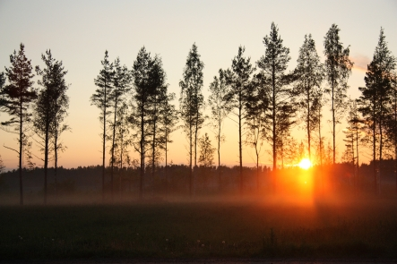 juhannus auringlasku sunset on midsummers