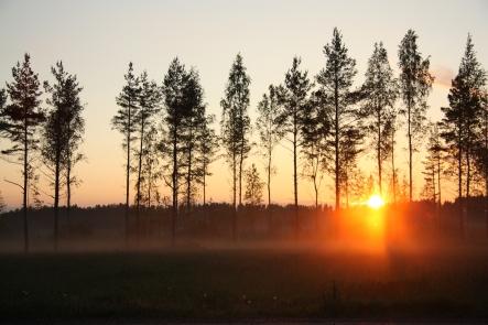 juhannus auringlasku sunset on midsummers