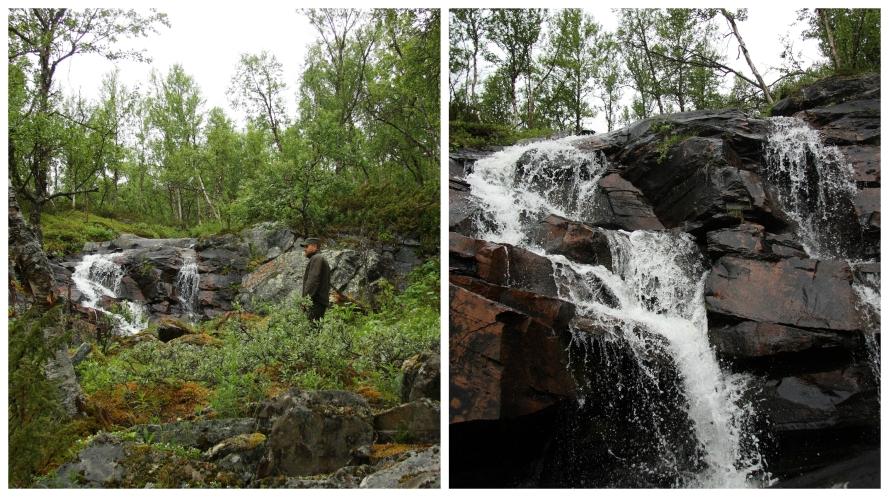 waterfalls in swedish lapland