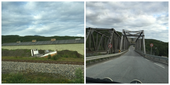 old train station and bridges in Fauske