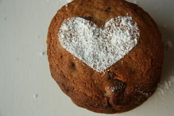 vintage chocolate chip cookies spelttijauhoilla edit